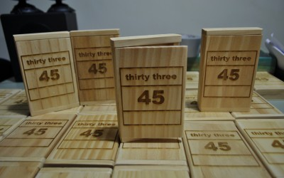 'thirty three – 45' : Cassette Label